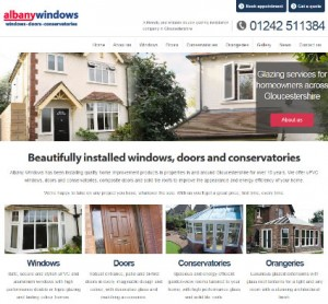 Albany Windows new double glazing website for Cheltenham