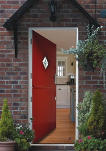 composite door in stable style