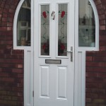 White double glazed front door
