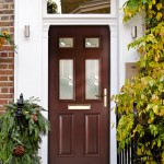Rosewood glazed composite doors