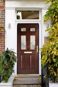 Rosewood glazed composite doors