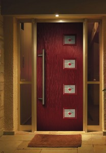 Red composite door