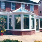 White large glass pane conservatory