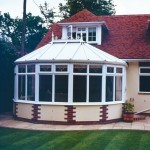 White modern conservatories uPVC