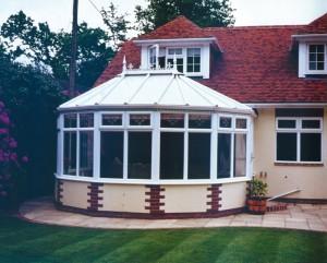 White modern conservatories uPVC