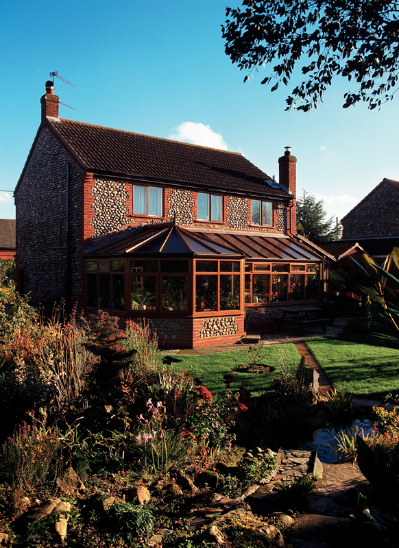 Oak effect uPVC conservatory