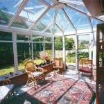 Internal shot of uPVC glass conservatory roof