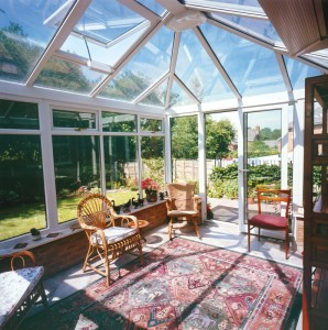 Internal shot of uPVC conservatory
