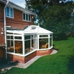 P shape conservatory in white uPVC