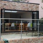 Bi-folding patio door in black