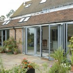 Bi-fold door in aluminium. garden living