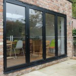 Glass pane patio doors