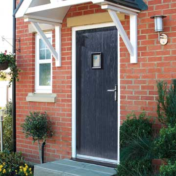 Blue composite entrance door - home exterior ideas