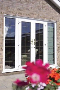 French doors with lead detail