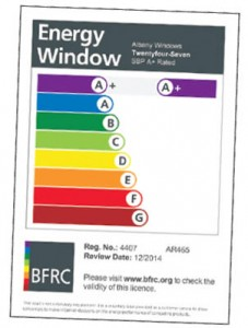 Our Energy ratings certificate