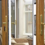 Oak effect finish patio doors