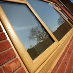 Oak effect windows
