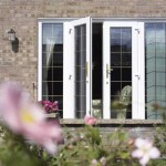 French doors are secure with lead detail