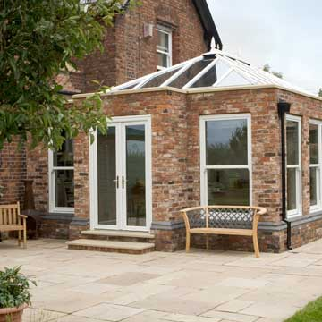 Orangery extension with glass roof