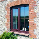 Rosewood finish windows