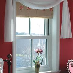 Sash sliding windows in white uPVC
