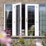 White french doors are secure