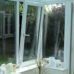 Tilt and Turn window partially open - European style windows
