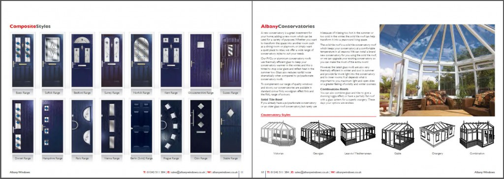 Albany Windows double glazing brochure