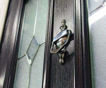 Albany Black Door with Knocker