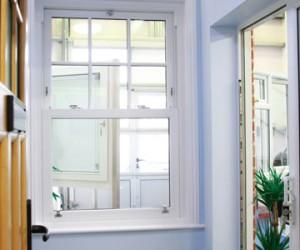 Albany Showroom white sash window