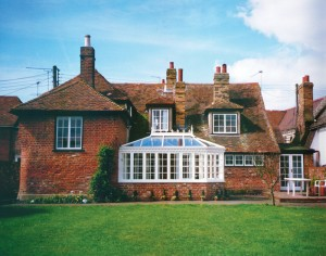 White Victorian conservatory