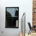 Black aluminium casement window