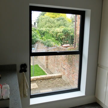 Black aluminium window