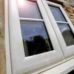 White casement window with double glazing