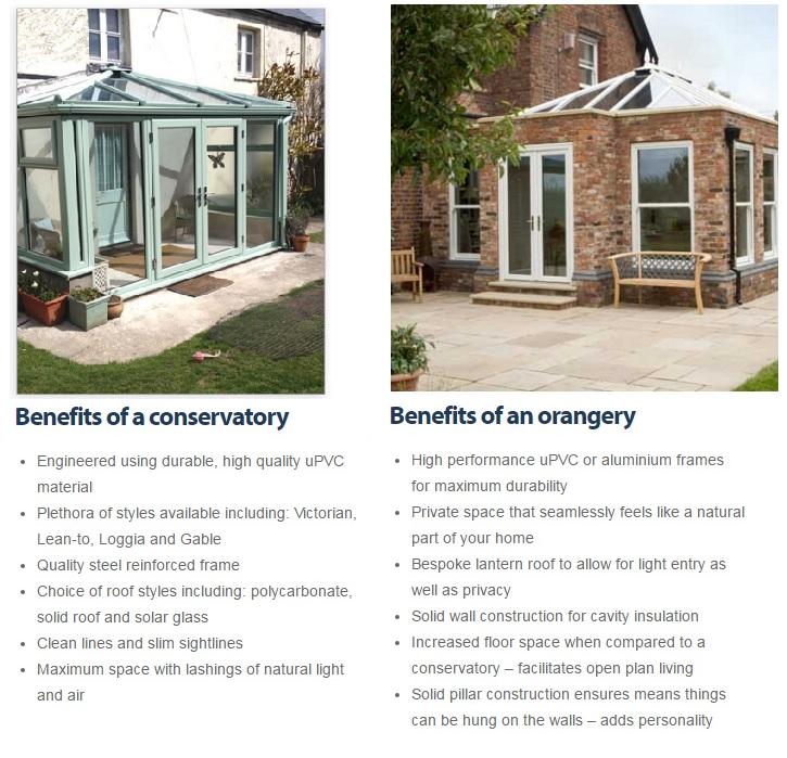 Conservatory & orangery benefits
