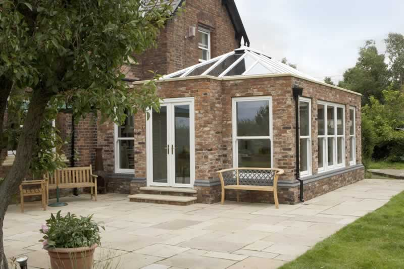 orangery with glass roof