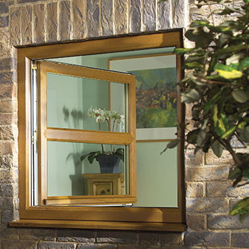 A uPVC window with tilt and turn functionality - European style windows