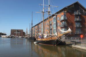 Gloucester docks- tall ships