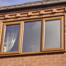 Oak uPVC windows with double glazing