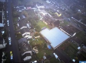 Back garden leisure centre as seen from above