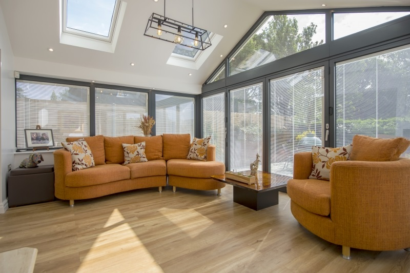 Extension with integral blinds